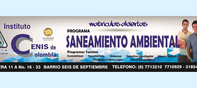 SANEAMIENTO AMBIENTAL – Nuevo programa!